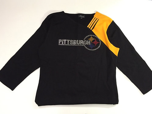 Pittsburgh Steelers Bling Long Sleve Top