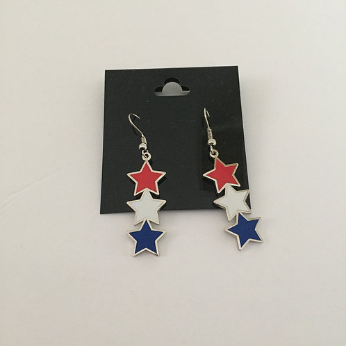 USA Star Earrings