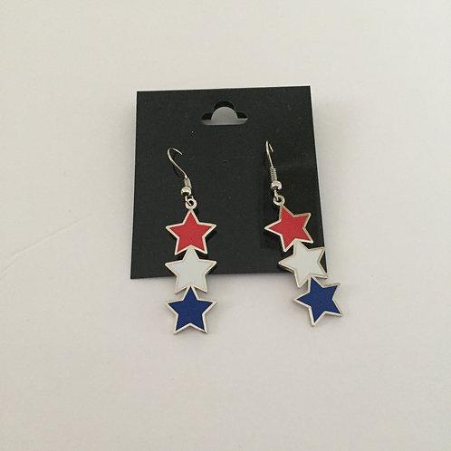 USA Star Earrings