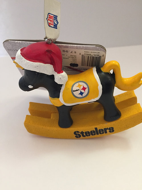 Pittsburgh Steelers Rocking Horse Ornament.
