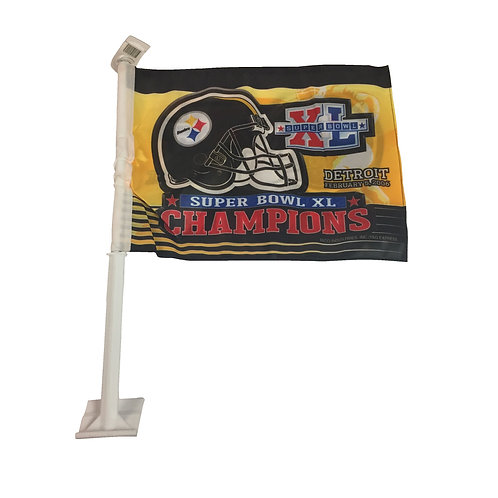 Pittsburgh Steelers Superbowl XL Car Flag
