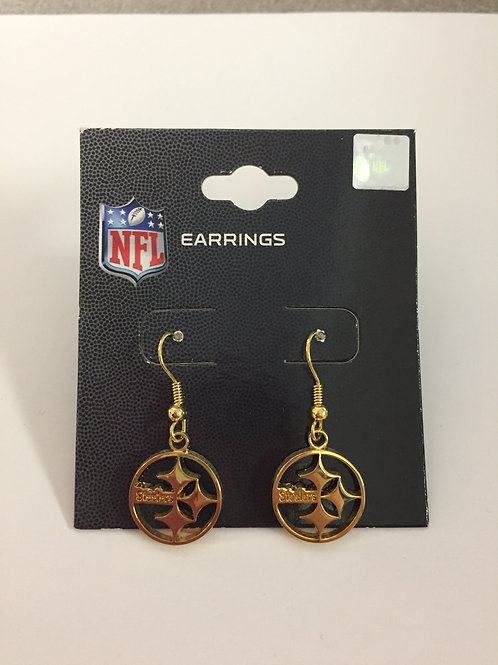 Pittsburgh Steelers Gold Emblem Earrings