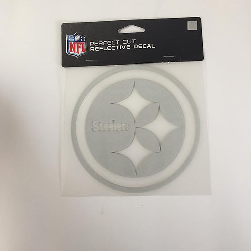"""Pittsburgh Steelers Perfect Cut 6""""x6"""" Reflective Decal"""