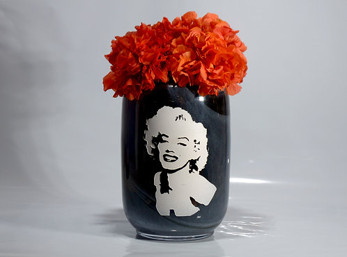Jarrón negro Marilyn