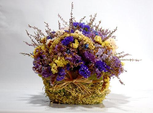 Cesto de Flores Secas