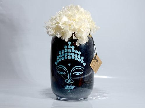 Jarrón negro Budha