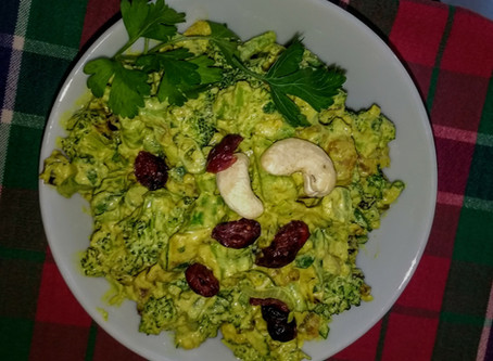 Paleo Broccoli Salad with Cashew Cream