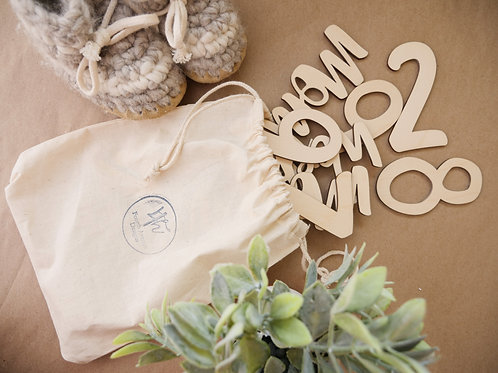 Wooden Baby Monthly Milestone Cut Outs