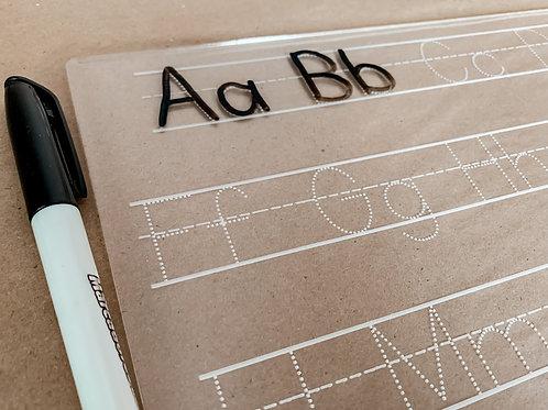 Alphabet Dry Erase Board