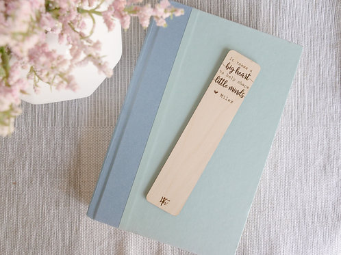 Wooden Engraved Bookmark- Teacher's Gifts