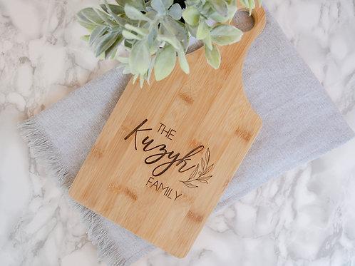 Family Name Bamboo Cutting Board