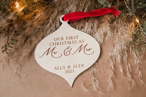 Our First Christmas As Mr&Mrs- Teardrop
