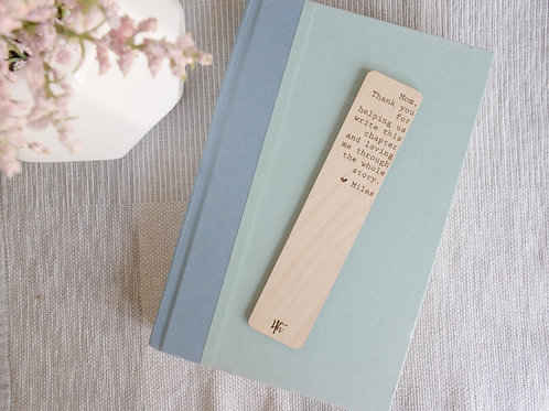 Wooden Engraved Bookmark- Mother's Day Gifts