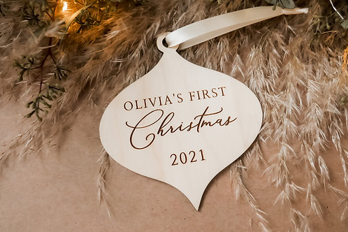 Personalized First Christmas- Teardrop