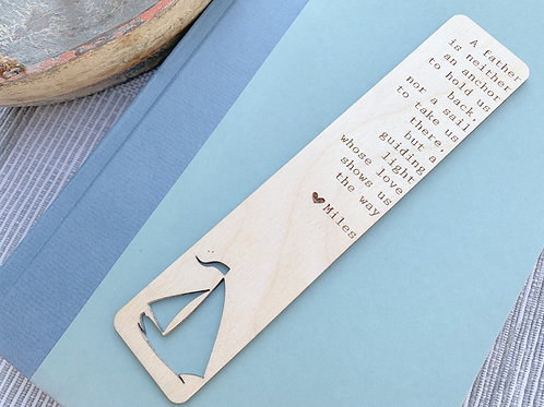 Wooden Engraved Quote Bookmark-Father's Day Gift