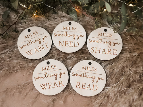 Personalized  Mindful Gift Tags-Thin String
