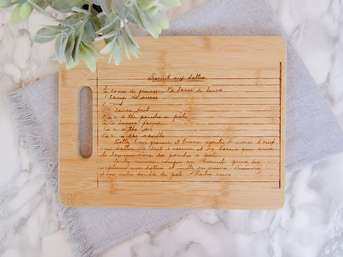 Recipe Bamboo Cutting Board