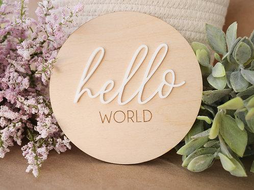 Hello World 3D New Born Announcement