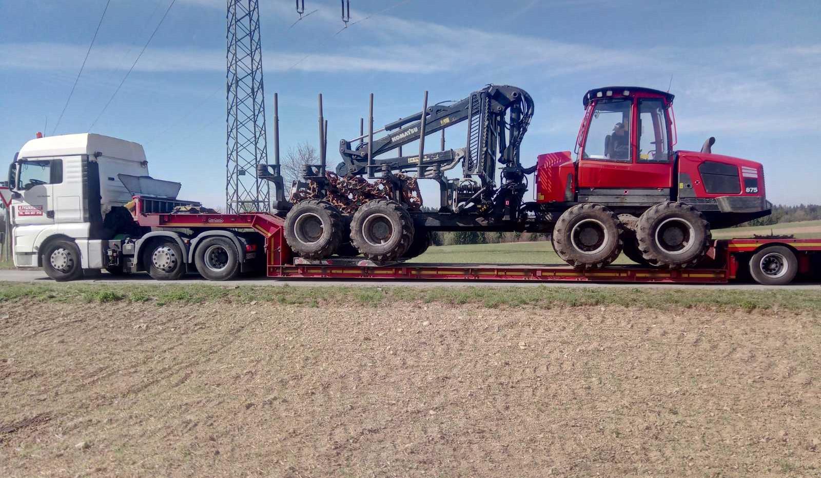 transport maszyn leśnych szczecin