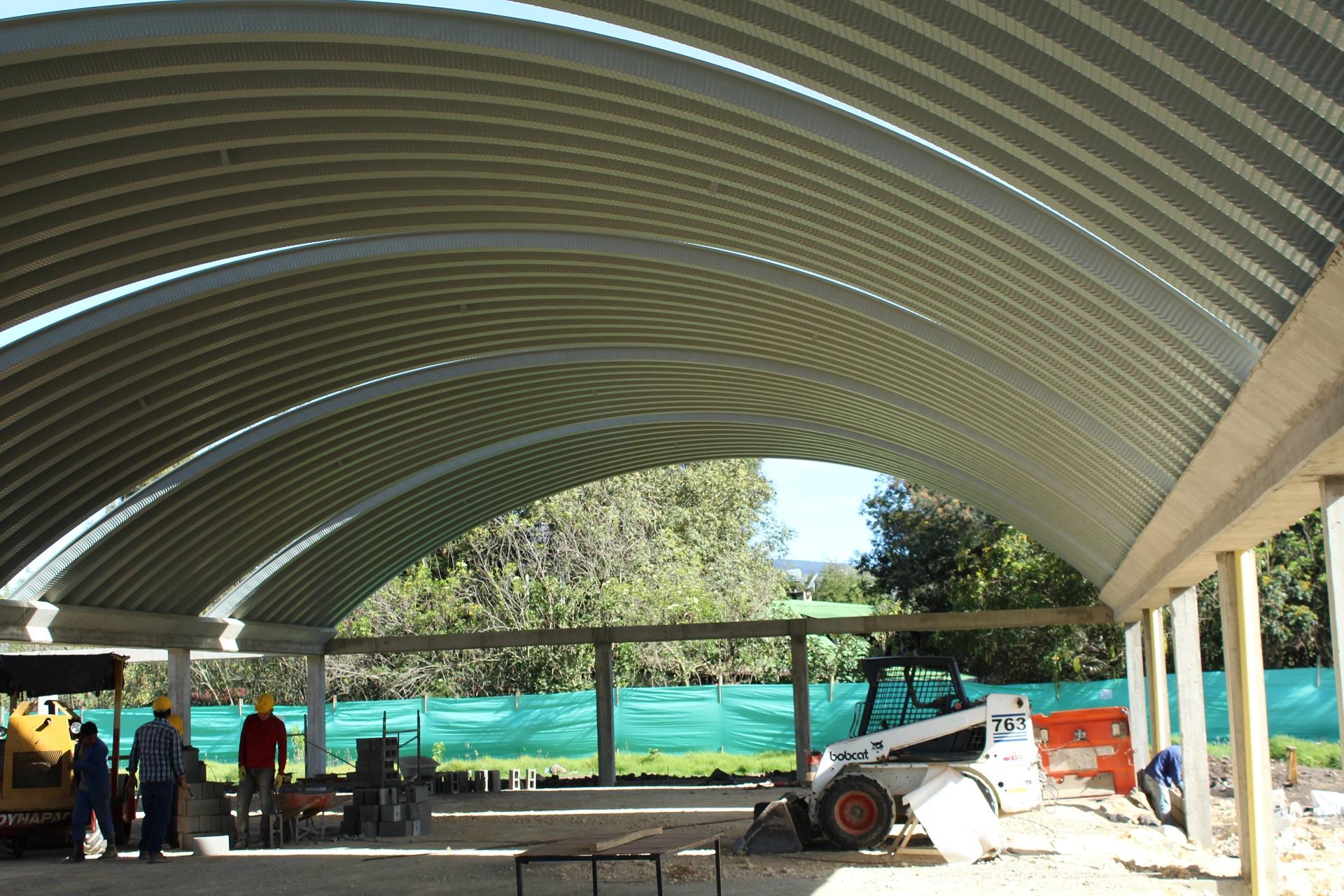 cubierta autoportante poliarkit steel roof