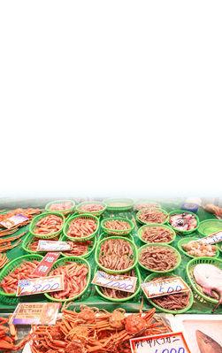 近江町市場カニ