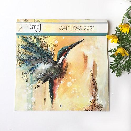 Calendar 2021, Bird Calendar, 2021 Monthly Wall Calendar, Bird Lover Gift