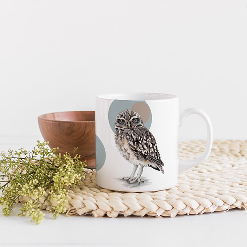 Owl Mug, Scandi Mug, Owl Gifts, Bird of Prey Coffee mug, Bird Lover Gift
