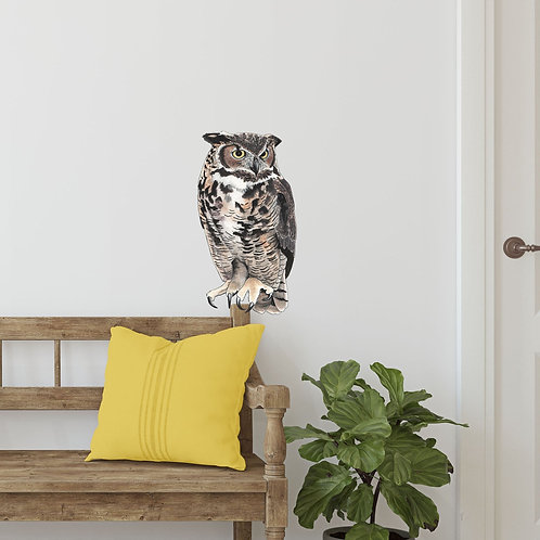 Large Owl Wall Decal, Vinyl Wall Sticker, Owl Lover Gift, Nature Vinyl Wall Deca