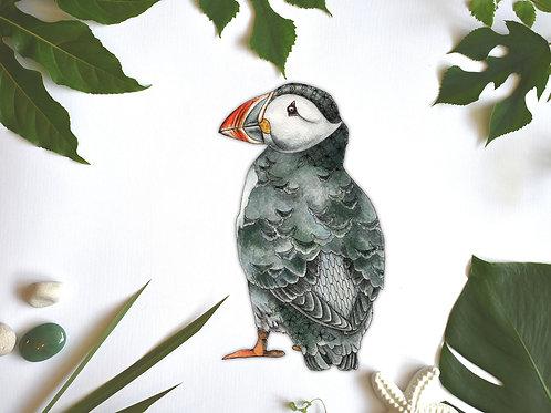 Puffin Bird Decal, Bird Vinyl Sticker, Puffin Gifts, Bird Decals Wall Sticker