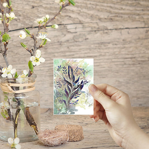 ACEO card Butterfly print tiny art illustrated cards butterflies wall art illust