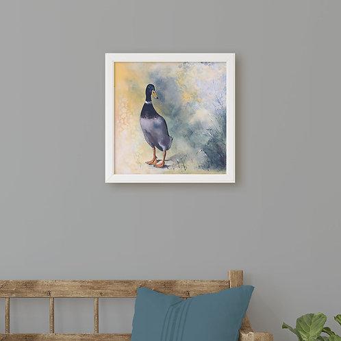 Original Duck Painting, Nature Art for Bird Lovers