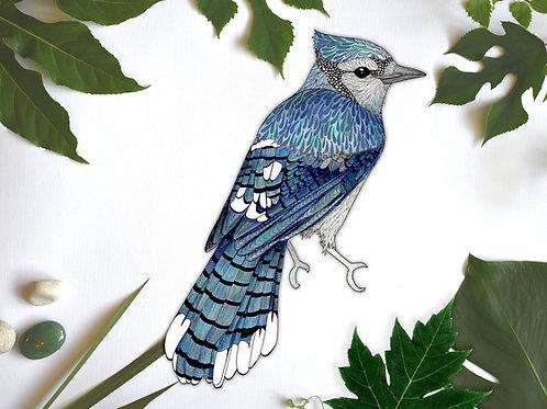 Bird Stickers, Blue Jay, Bird Decal, Bird Vinyl Sticker, Removable Wall Sticker