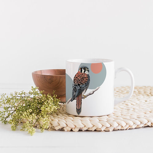 Ceramic Scandi Mug, Bird of Prey Coffee or Tea mug, Bird Lover Gift
