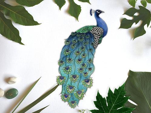 Peacock Decal, Peacock Sticker, Bird Decal Stickers, Removable Vinyl Sticker