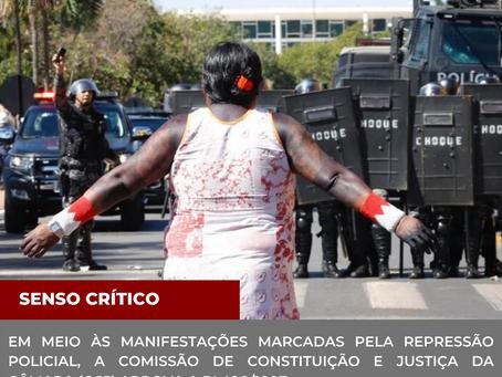 Em meios às manifestações marcadas pela repressão policial, CCJ aprova o PL490/2007