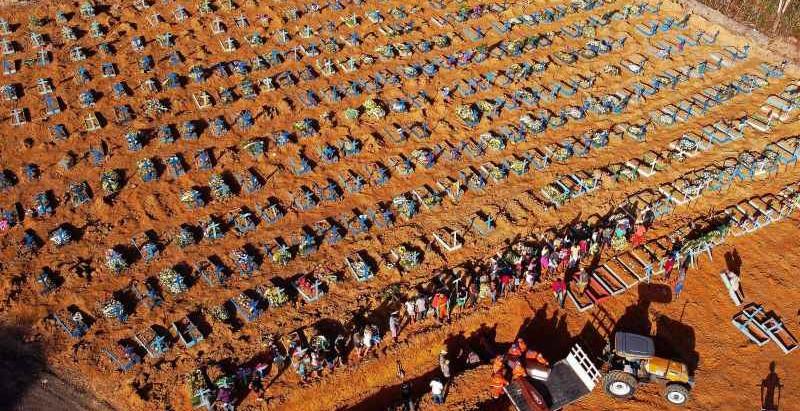 BRASIL ULTRAPASSA MARCE DE 2000 MORTES DIÁRIAS POR COVID-19 E ACENDE ALERTA PARA OUTROS PROBLEMAS