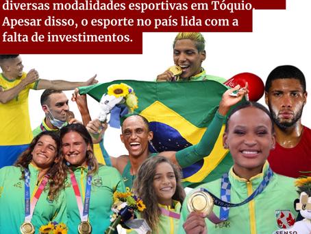 Brasil conquista medalhas em Tóquio, apesar disso, os esportes lidam com a falta de investimentos