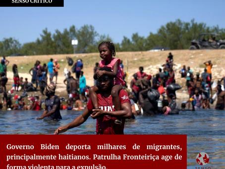 Governo Biden deporta milhares de migrantes, principalmente haitianos.