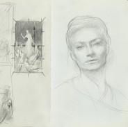 Sketch for Skulds Valendiction