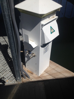 Pedestal for water & electric