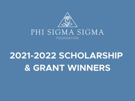 2021-2022 Foundation Scholarship Winners