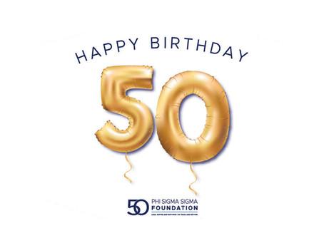 Happy 50th Birthday to the Phi Sigma Sigma Foundation