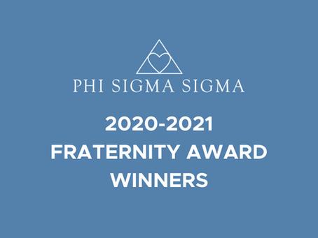 2020-2021 Fraternity Award Winners