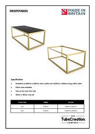 Dropstabox frame spec sheet