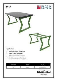 Ziggy frame spec sheet