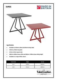 Surge frame spec sheet
