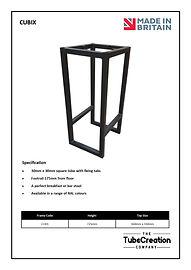 Cubix frame spec sheet