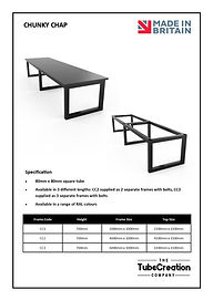 Chunky Chap frame spec sheet