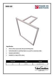 Dog Leg frame spec sheet