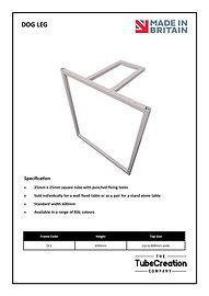 Dog Leg frame spec sheet